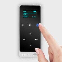 Ruizu X05 8GB 16GB ultra cienki dotykowy przenośny bezstratny sportowy cyfrowy ekran Hifi Audio Mp 3 Mini muzyka odtwarzacz Mp3 Radio FM