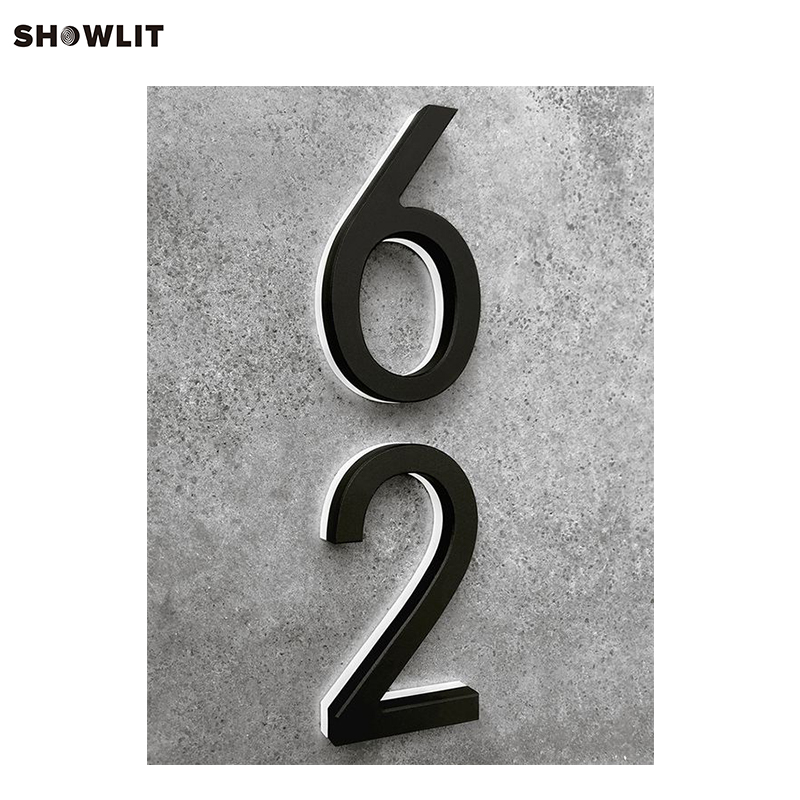 Black contemporary lighted 8 modern house numbers in door plates from home improvement on aliexpress com alibaba group