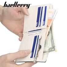 Men Wallets fashion Baellerry 2018 Luxury Brand Mens Wallet Canvas Short Retro Zipper Purse Male 088