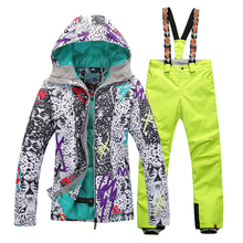 Waterproof Windproof Breathable Skiing Jackets and Ski Pants Set Outdoor Gsou Snow Womens Suit Winter women ski jacket