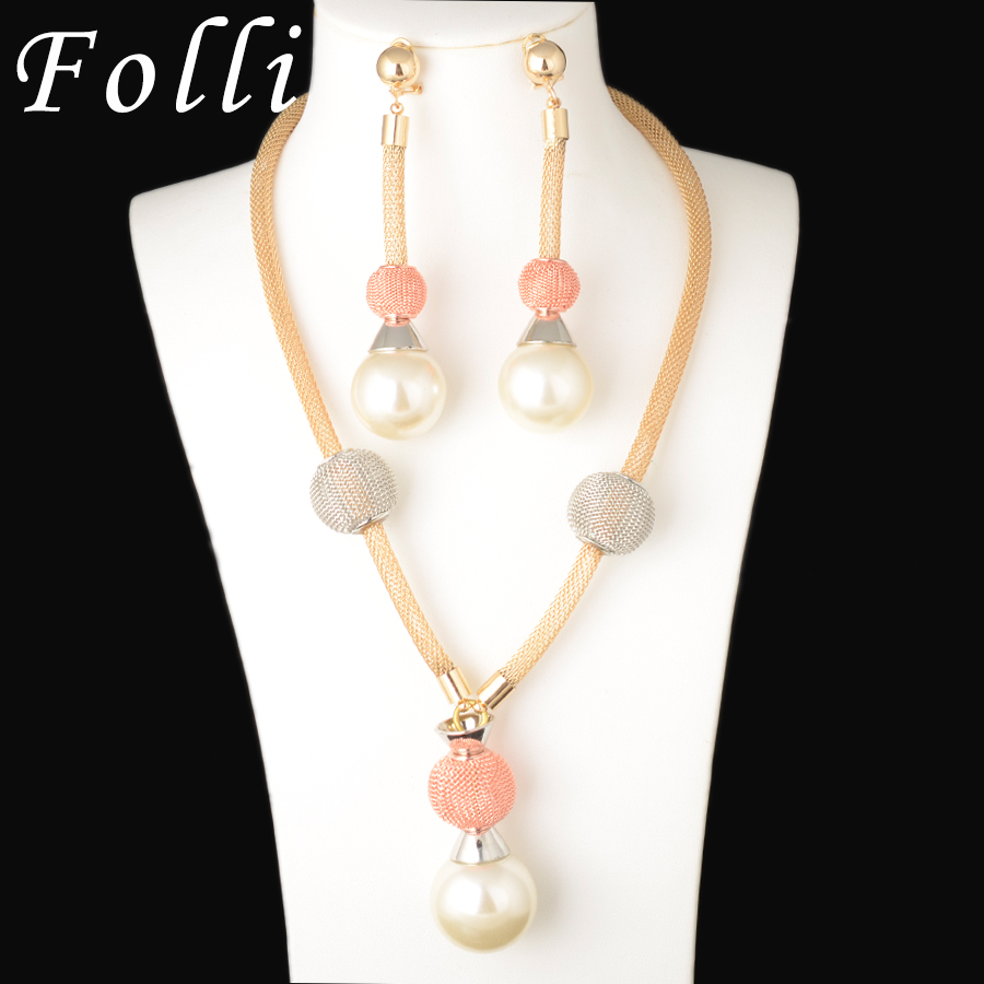 Fashion Jewelry Necklace Earring Sets