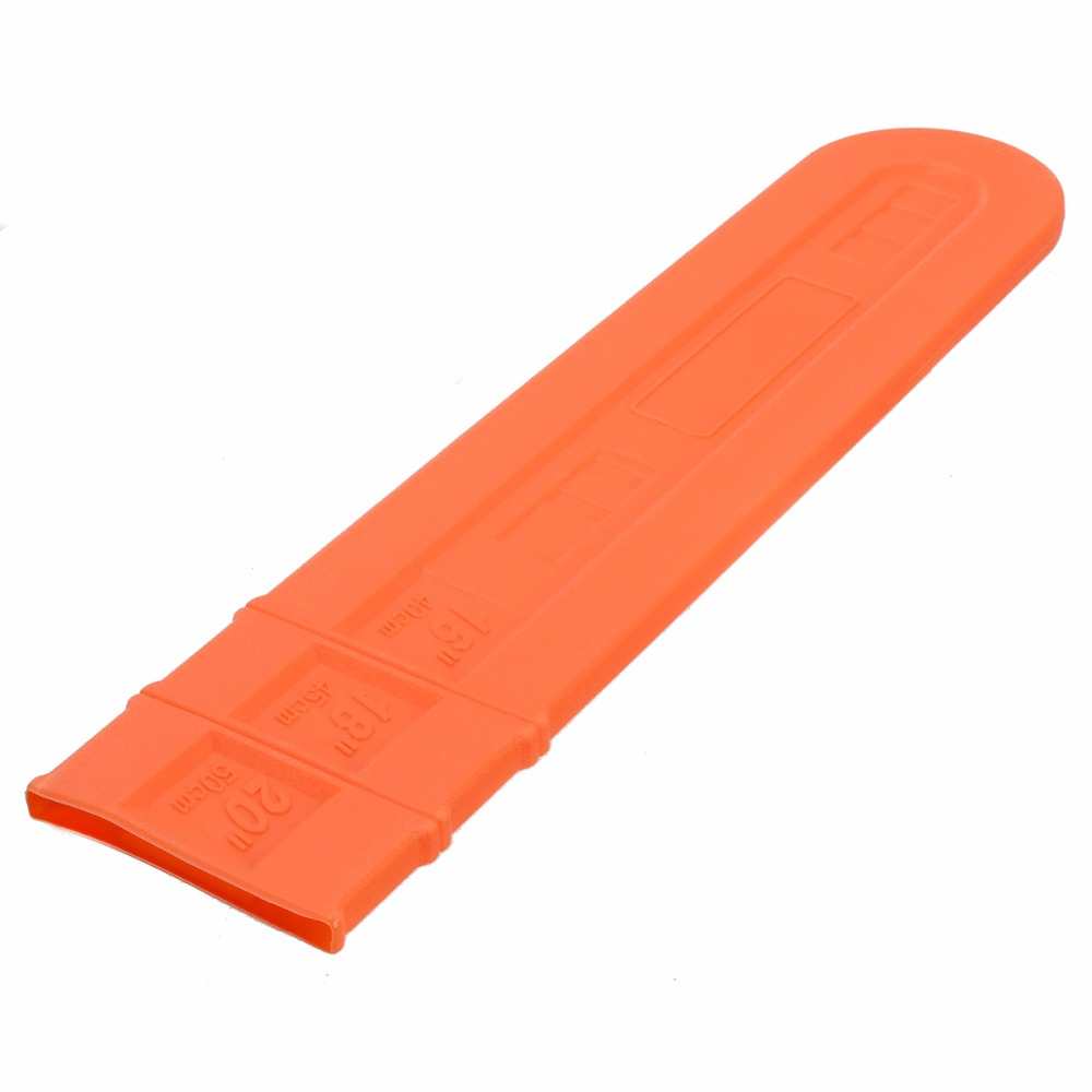 1pcs 16'' 18'' 20'' Chainsaw Bar Cover Scabbard Universal Guide Plate Chain Saw Accessory Orange