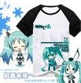 Vocaloid 2 Hatsune Snow Miku Cute T-shirt Cosplay Anime Men Women Cotton T Shirt Multicolor
