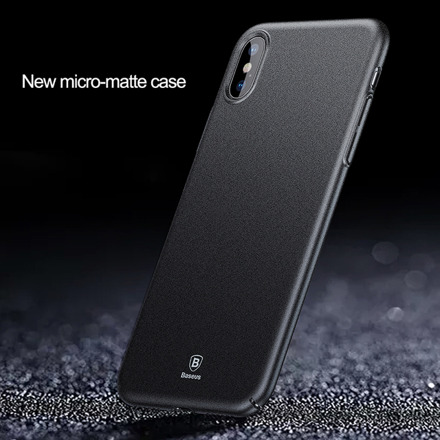 Baseus iPhone X Luxury Matte Ultra Thin Hard PC Frosted Back Cover Case