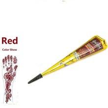 Henna tatuagem tinta de alta qualidade natural índia temporária tatuagem tinta vermelha para o corpo desenho pintura