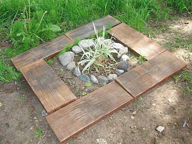 moldes de plstico para la tabla de madera para la de losas de hormign viejo