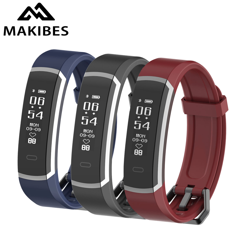 Makibes R3 Smart Bracelet Bluetooth 4.0 Wristband Continuous Heart Rate Monitor Health Fitness Tracker Smart Band Call Reminder original makibes hr1 smart bracelet fitness activity tracker continuous heart rate monitor 0 96 oled bluetooth wristband