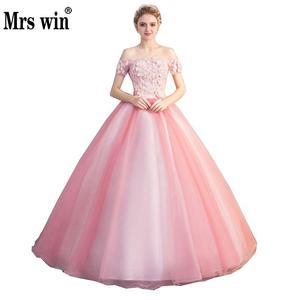 Image 1 - Quinceanera Jurken Nieuwe Prom Party Korte Mouwen Uit De Schouder Baljurk Party Prom Formele Homecoming Gown Plus Size
