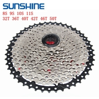 SUNSHINE 8 9 10 11 Speed MTB Bicycle Freewheel 32T 36T 40T 42T 46T 50T cassete velocidade wide different SunRace Bike parts