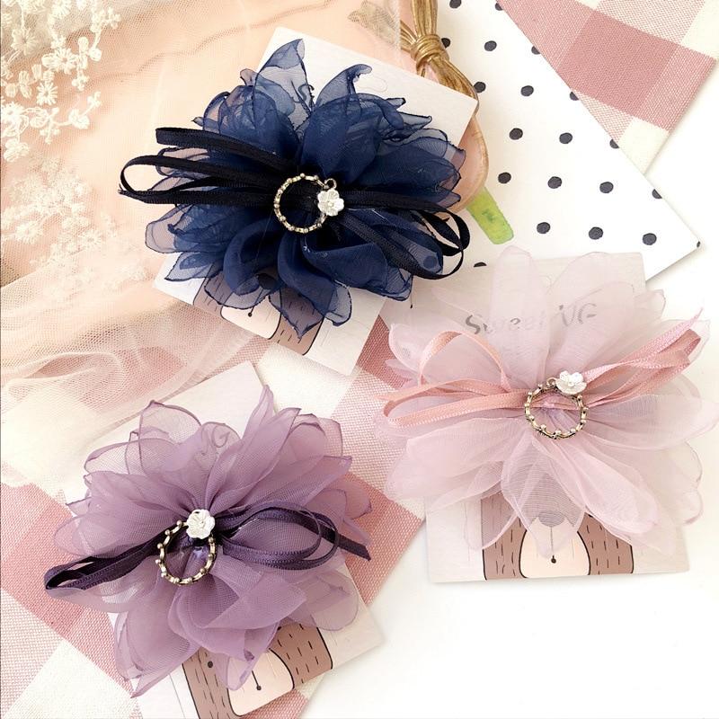 Buy Cheap Korea Lace Flower Crown Side Bangs Clip Hair Accessories Rim Hair Clips For Girls Hairpin Hair Bows Hairgrips Girl's Accessories