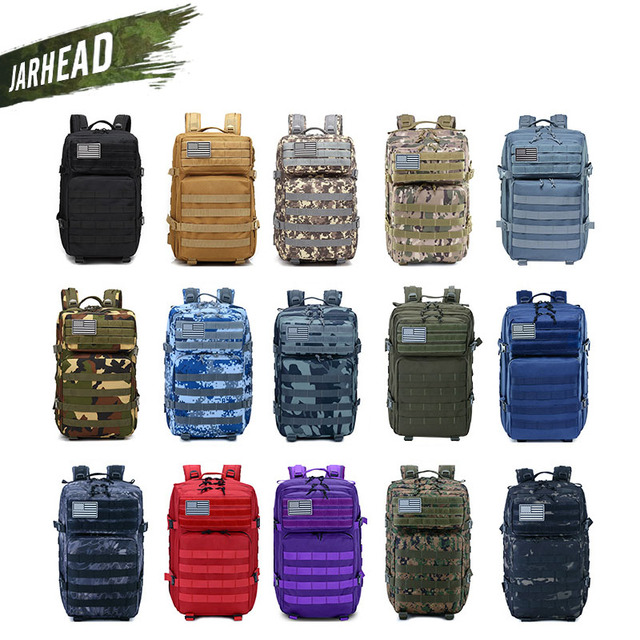 New Large Capacity Man Army Tactical Camo Backpacks Military Assault Bags Outdoor 3P EDC Molle Pack For Trekking Camping Hunting 2