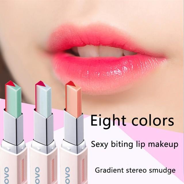 Fashion Korean Lipstick Bite Gradient Silky Long Lasting Moisturzing Nourishing Lipstick Lip Balm Lips Makeup Cosmetic maquiagem 2