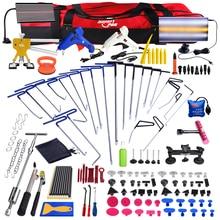 Super PDR tools Push Rod Hooks Crowbar Car Dent repair tool kit Lamp board slide hammer Paintless Dent Removal Hand Tools set