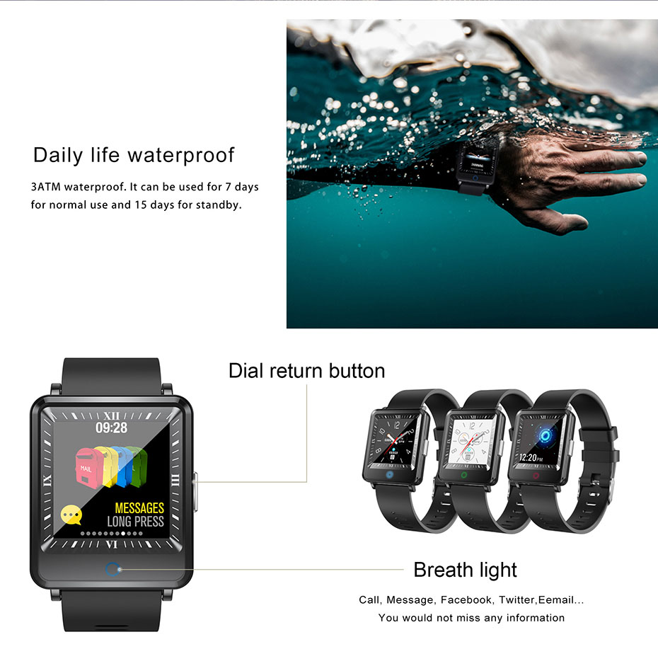 COLMI Dual Screen Smart Watch Men Blood Pressure Clock IP67 Waterproof Smartwatch Activity Fitness Tracker For android IOS phone 9