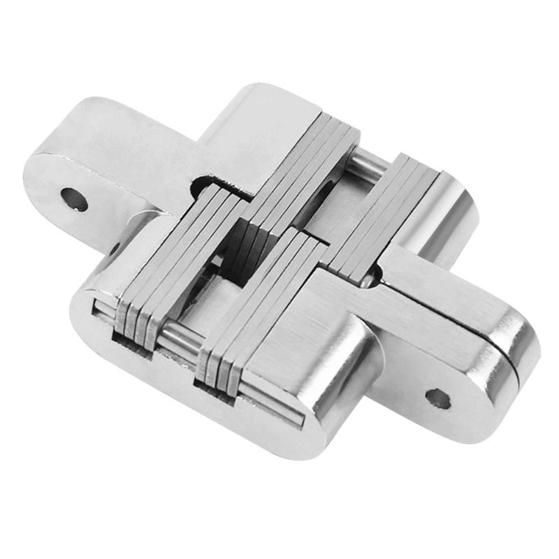 Door Hinge Zinc Alloy Door Concealed Invisible Hidden Hinges Folding Door Mount Hinge for Furniture Hardware hide mini hardware copper plate hinge rationing concealed hinge pillar bucket cross word brass hinge