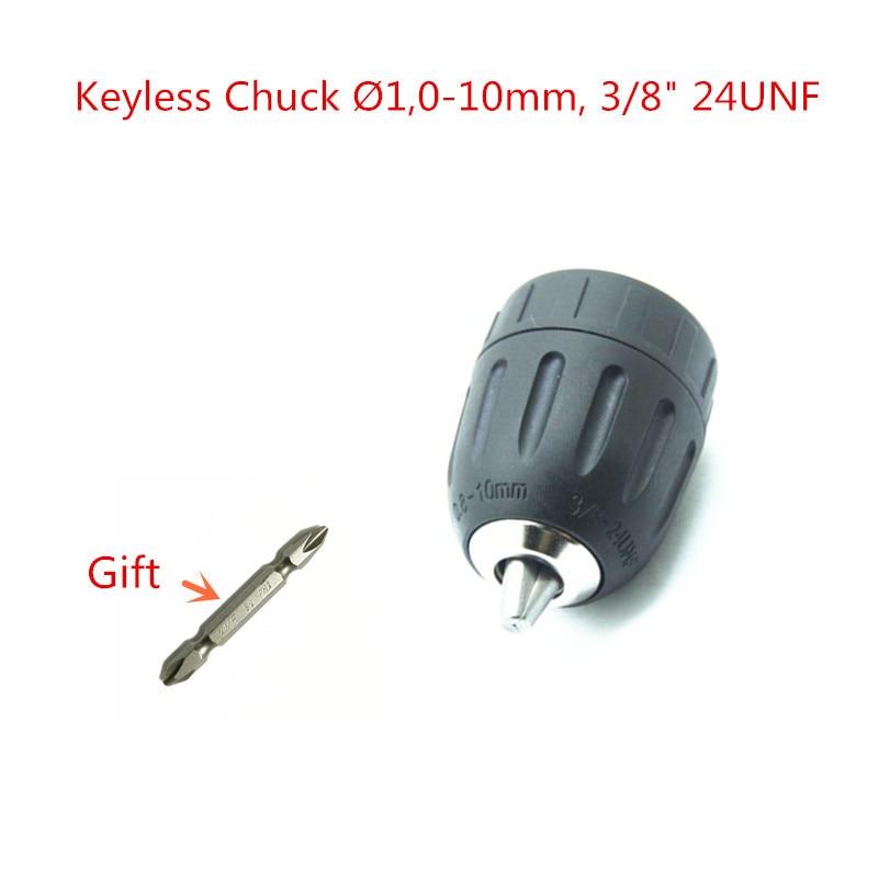 Drill Keyless Chuck 1.0-10mm 3/8-24UNF for BOSCH Screwdriver  Drill GBM10RE GSR18-2 GSR1080-2-LI  TSR1080-2-LI GSR1200-2-LI дрель электрическая bosch psb 500 re 0603127020 ударная