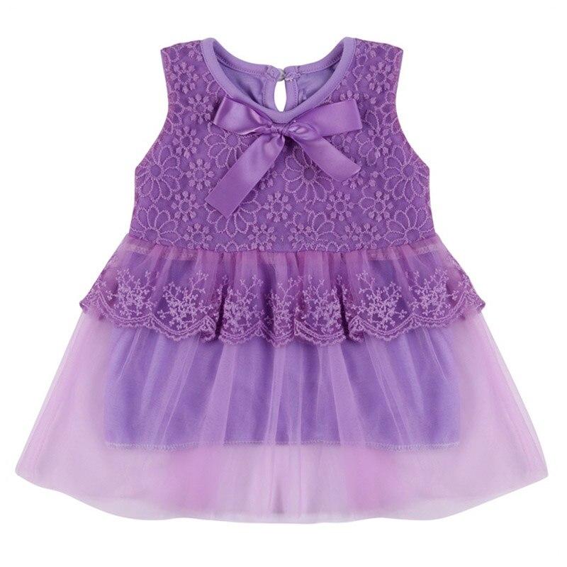 Dziewczynek Sukienki Dzieci Ubrania Bawełna Dzieci Bow Lace Ball - Odzież dla niemowląt - Zdjęcie 5