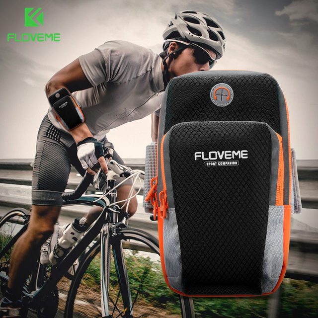 FLOVEME Sport Phone Arm band Case For iPhone 6 Accessories Running 6.0 inch Universal Phone Bag Pouch for iPhone 7 Case Coque