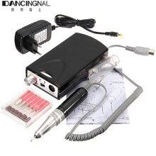 Pro Nail Art Elektryczne Manicure Pedicure Wiertarka Pliku Akryl Akumulator maszyna 6 Bit Set Dla Salon DIY Nails Pielęgnacja Stóp narzędzia