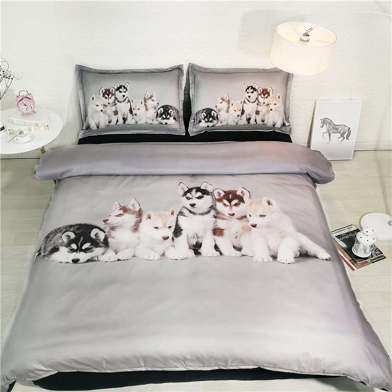 Bedding Sets Leopard Print Sheets Queen Size Pink Bedding Girl Cover 3d Animal Duvet Cover Teenage Bed Cute Animal Bed Linens Home Textile