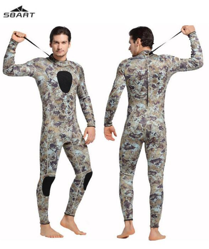 SBART Diving Suit 3MM Neoprene Wetsuit Men Long Sleeve Full Swimwear Keep Warm Winter Water Sports Swim Surfing Wetsuits men s winter warm swimwear rashguard male camouflage one piece swimsuit 3mm neoprene wetsuit man snorkeling diving suit