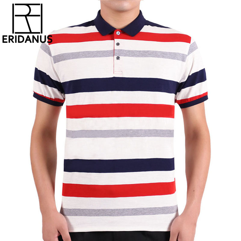 2018 New Brand   Polo   Shirt Men Business Casual Breathable Striped Short Sleeve   Polo   Shirt Pure 100%Cotton Work Clothes   Polos   M687