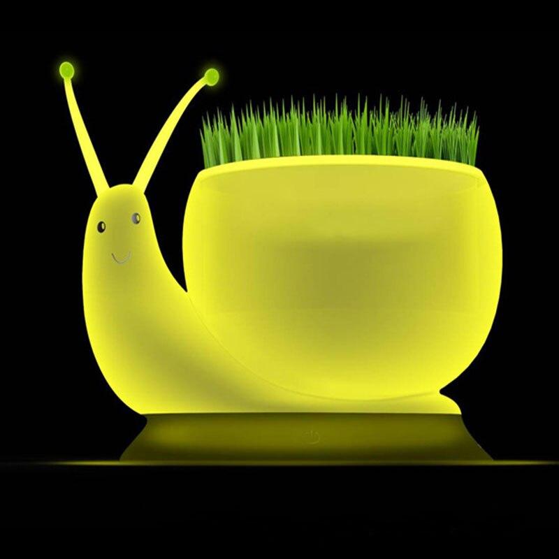 Nouveauté 3D serpent veilleuse tactile lumière + graines + 3 lumière Mode plante lampe de table pour chambre salon décoration