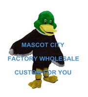 Партия Маскоты зеленая голова Кряква Маскоты костюм для взрослых персонажа из мультфильма костюм нарядное платье эффективность рекламы