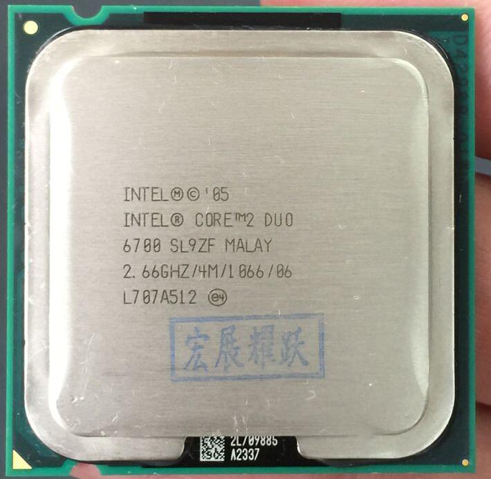 Intel Core2 Duo procesador E6700 (4 m Cache 2,66 GHz 1066 MHz) dual-Core CPU LGA775 escritorio procesador AliExpress Envío Estándar