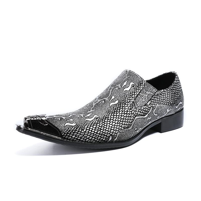 Negócios Itália Metal Design Sapato Moda Festa Oxford Show De Homens Toe Casuais Apartamentos Couro Sapatos Formais As Show Impressão Casamento as Masculino aaqzrxw