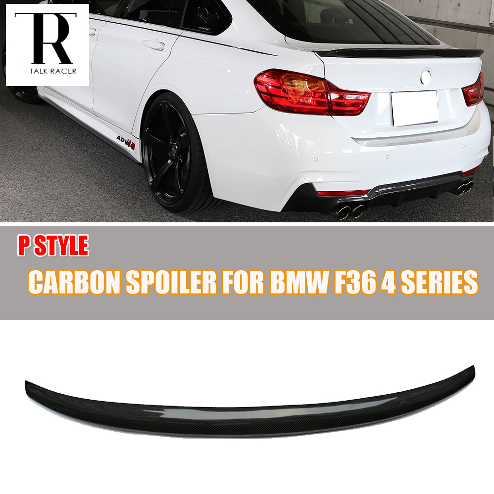f36 m performance carbon fiber rear wing spoiler for bmw f36 420i 428i 435i 418d 420d 430d 435d. Black Bedroom Furniture Sets. Home Design Ideas