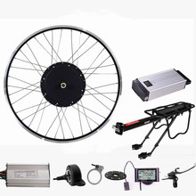 Electric Bicycle Engine Kit 48V 1500W Rear Motor wheel electric bike conversion kit with 48V 20Ah