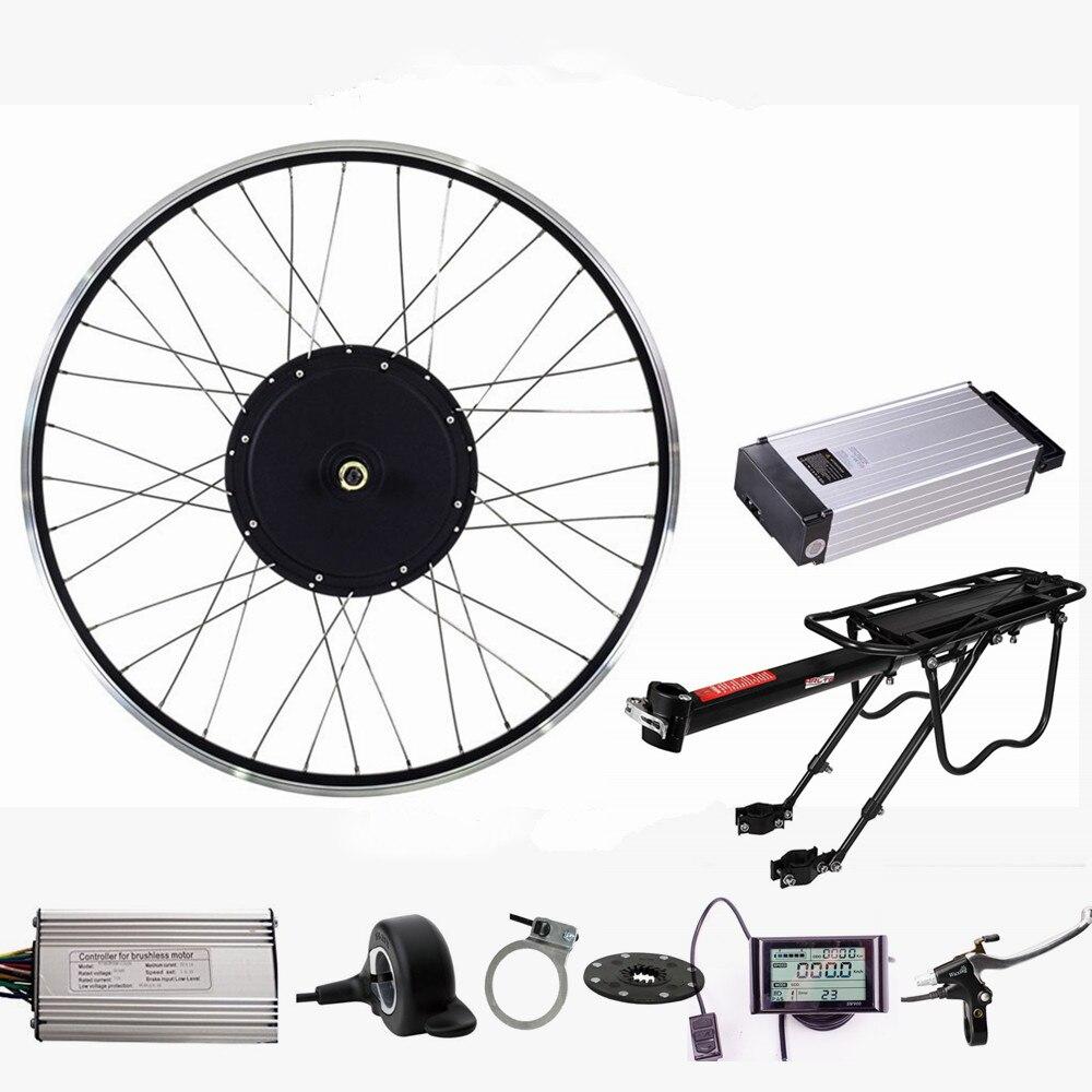 Elektrische Fahrrad Motor Kit 48 v 1500 watt Hinten Motor rad elektro-bike conversion kit mit 48 v 20Ah Ebike lithium-Batterie
