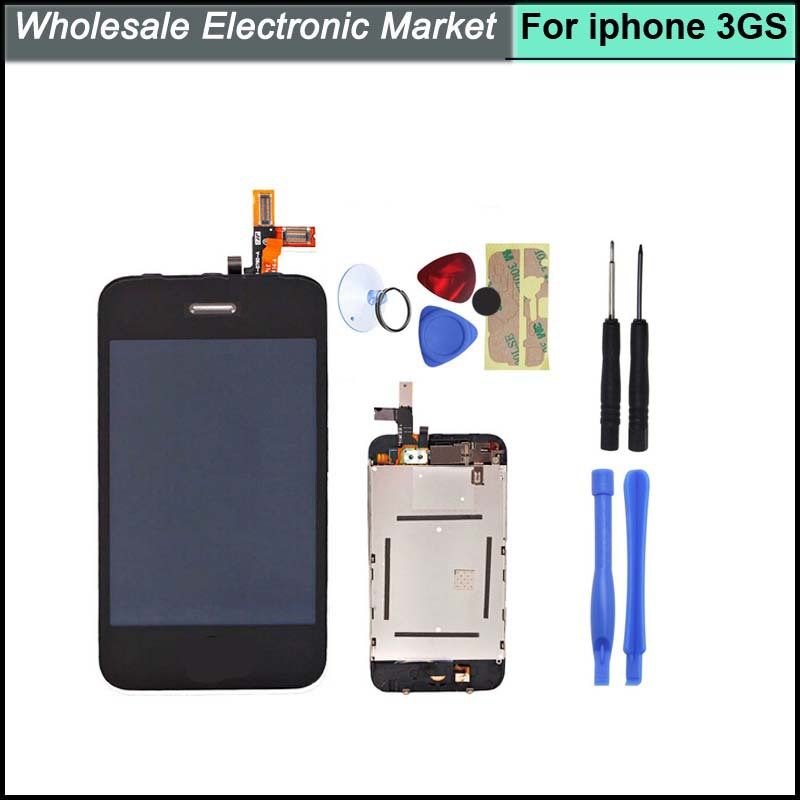 Free Tracking New Repair LCD Display Touch Screen Digitizer with Homebutton Assembly Front Cover for Apple