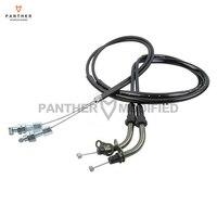 2 Pcs Black Motorcycle Throttle Cable Wire Line Gas Case For Suzuki GSX R GSXR 1000