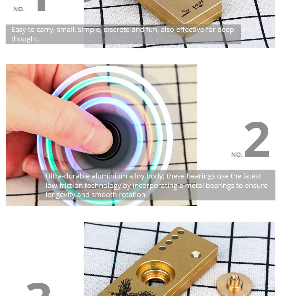 3 In 1 Hand Spinner LED USB Charging Cigarette Lighter Finger Spinner Rechargeable Creative Fidget Spinner Anti Stress Spinners