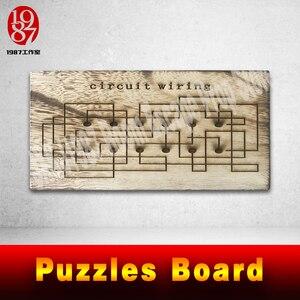 Image 3 - Quebra cabeças de madeira para escapar, vida real, adereço, placa de madeira, resolver o quebra cabeça para obter as pistas, número, plugue fios adereços jxkj1987
