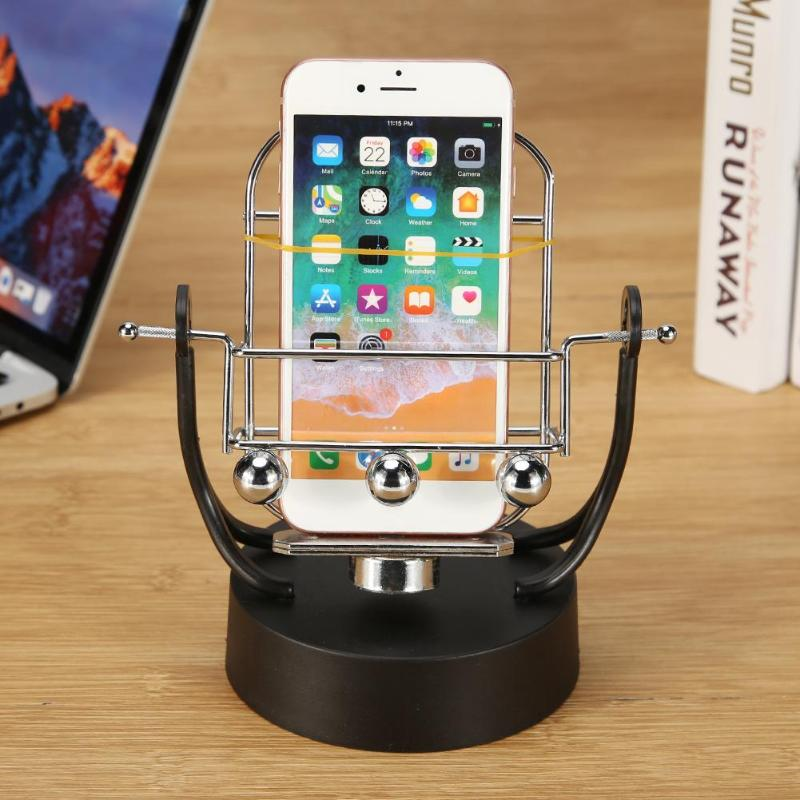Creative Phone Swing Shelf Automatic Shake Phone Wiggler For WeChat Motion Number Of Brush Steps Set Home Decorative Shelves