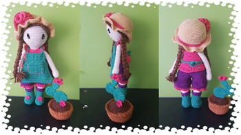 Juguetes de ganchillo amigurumi chica encantadora modo número LS0040