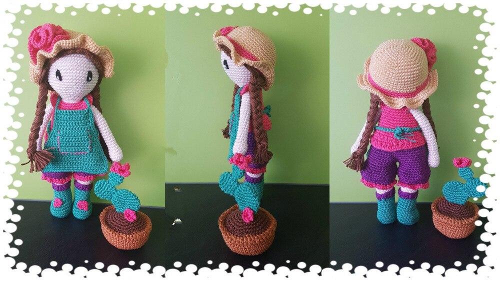 Crochet Toys  Amigurumi  Lovely Girl     Mode     Number  LS0040