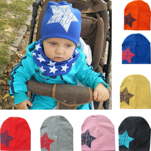 Tavaszi Infant Hat ősszel Caps Színes Print Star Baby Beanie For Boys Girls Cotton Kötött Hat Gyerekek Winter Hats Solid Cap