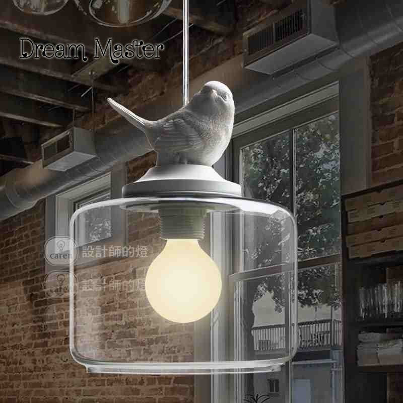 Nordic Restaurant Bar creative children's room balcony entrance stairs single head glass bird shaped Chandelier кутуев ю сухарев а четверов б приорова е и др теория безопасности жизнедеятельности учебник