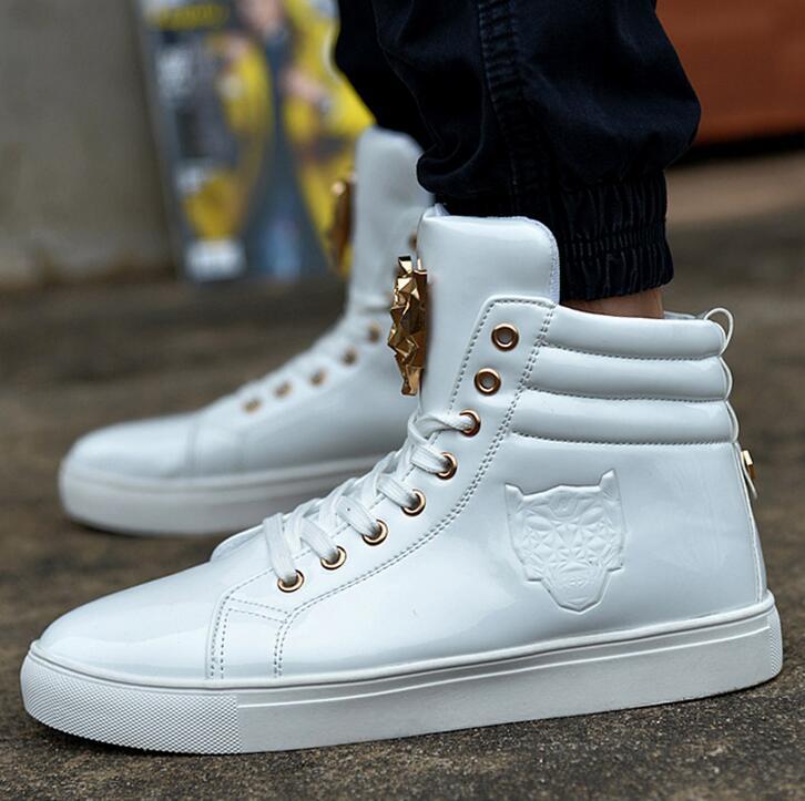 Aliexpress.com : Buy 2016 Fashion High Top Casual Shoes For Men PU ...
