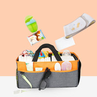 Foldable Baby Diaper Bag Caddy Organizer Kids Baby Toys Nursery Diaper Caddy Storage Anti Smell Easy Cleaning Mummy Bags