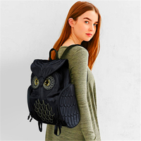 Fashion Cute Owl Backpacks Women Cartoon School Bags For Teenagers Girls PU Leather Women Backpack 2016