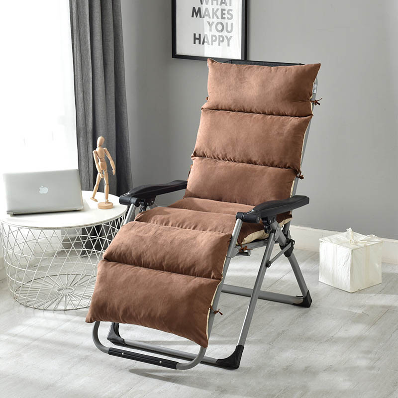 Winter Suede Lounge Chair Cushion Soft