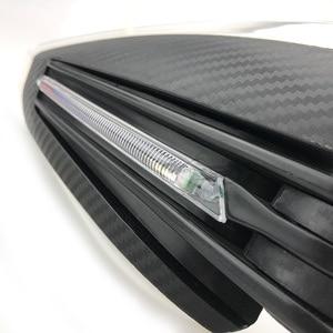 """Image 3 - 7/8 """"22 millimetri di trasporto Del Motociclo A Mano Guardie Bar End Carbon Look Cadere Protezioni con la Luce del LED Universale per Honda Kawasaki KTM Polaris"""