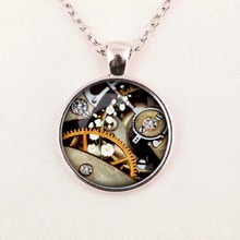 Creative DIY steam flower necklace pendant necklace men and women fashion