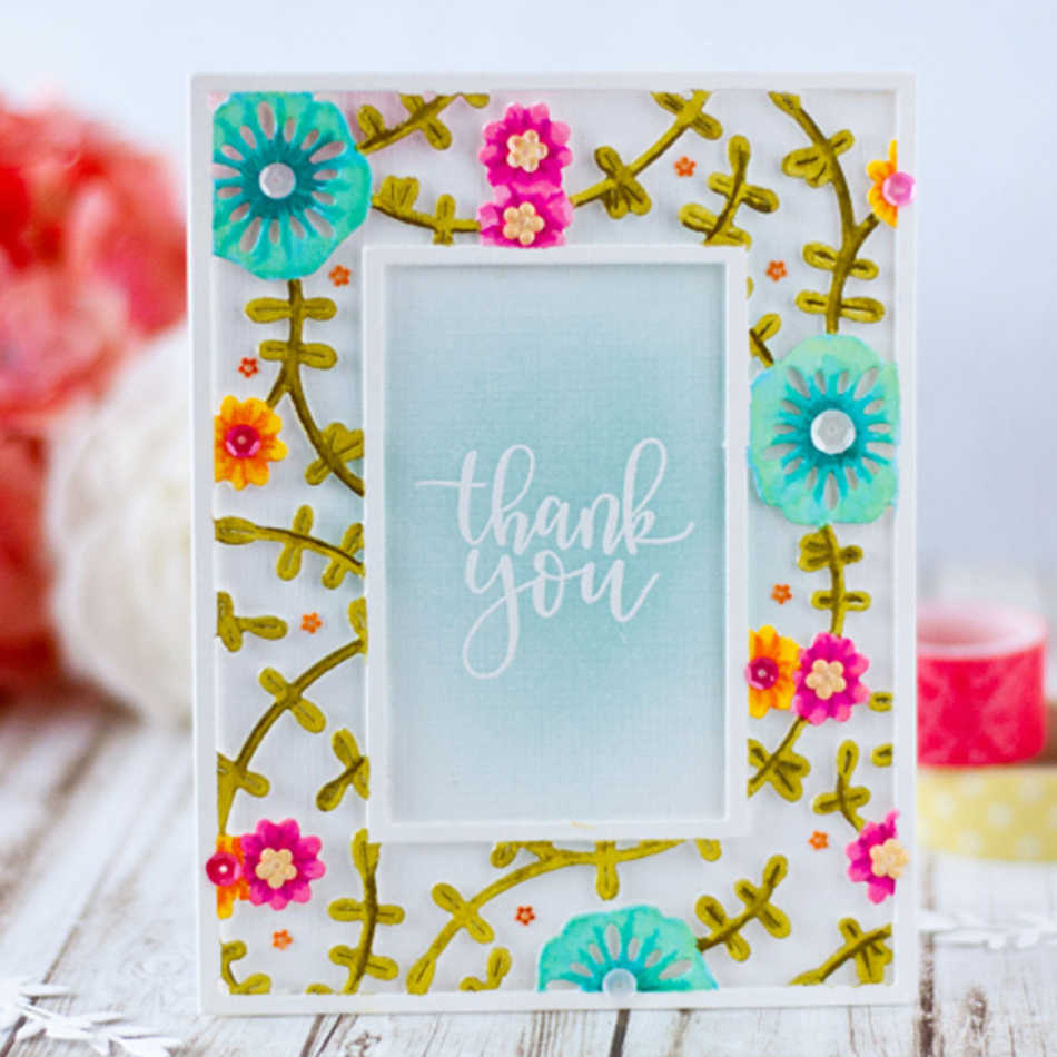 Clearance Big Sale!Flowers Blooming Frame Metal Cutting Dies Embossing Scrapbooking Stencil Craft Cut Dies for DIY Card Crafts