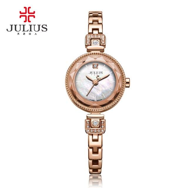 Julius Damenuhr Japan Quarz Fashion Hour Lady Uhr Perlmutt Kette Armband  Top Mädchen Valentinstag Geburtstagsgeschenk Box